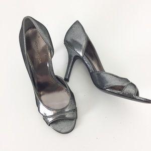 Ann Taylor | Grey Metallic Heels | Size 6.5